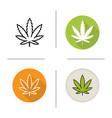 marijuana leaf icon vector image vector image