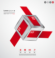 Modern cube long infographic banners vector image vector image