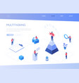 multitasking concept - modern isometric web vector image vector image
