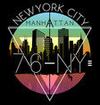 newyork city graphic design vector image vector image