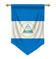 nicaragua pennant vector image vector image