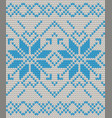 nordic knitted texture blue on white seamless vector image vector image