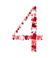 Number of hearts vector image vector image
