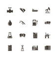 oil - flat icons vector image