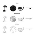 pool and swimming icon set vector image vector image