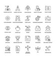 project management line icon pack vector image vector image