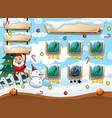 santa christmas game template vector image