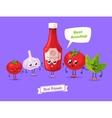 set ketchup characters cute cartoons vector image vector image