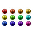 set of colored realistic balls vector image