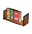 shelf with books icon vector image