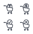 shopping carts order status vector image