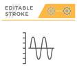 sound graph editable stroke line icon vector image vector image