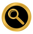 ssearch sign button vector image vector image