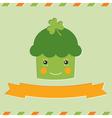 St Patricks Day cupcake card vector image vector image