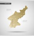 stylized north korea map vector image
