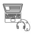 technology laptop cartoon vector image vector image