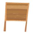 Wooden cartoon board vector image