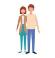 young couple avatar character vector image vector image