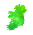 silhouette of Ireland on map vector image