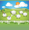 counting sheep vector image