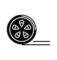 movie reel icon black sign vector image