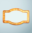 Retro bulb circus cinema light sign template vector image