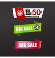 037 Collection of colorful web tag banner vector image vector image