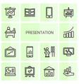 14 presentation icons vector image vector image