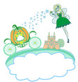 a fairy and a pumpkin carriage vector image