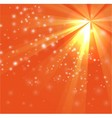 A orange color design with a burst and rays vector image vector image