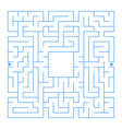 abstract square isolated labyrinth blue color on vector image