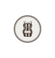 backpack icon patch and sticker vintage hand vector image vector image