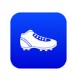 baseball cleat icon digital blue vector image vector image