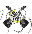 black guitar print vector image