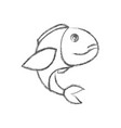 blurred sketch silhouette of bass fish vector image vector image