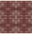 brown ethnic seamless pattern with tribal elements vector image