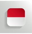 Button - Indonesia Flag Icon vector image vector image