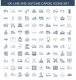 cargo icons vector image vector image