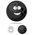 Cartooned bowling ball vector image vector image