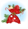 Christmas sack with presents vector image