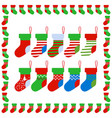 christmas socks with socks frame vector image