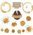 Coffee Stains With Symbols Set vector image vector image