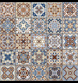 collection of ceramic tiles vector image vector image