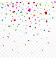 colorful confetti celebration carnival ribbons vector image vector image