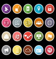 Communication icons with long shadow vector image vector image