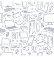 computer game device social gaming sketch vector image vector image