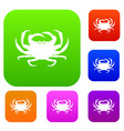 crab set collection vector image vector image