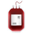 creative of blood bag with vector image