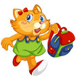 cute cat in human-like pose isolated vector image vector image
