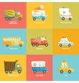 Cute colorful set of cars in vector image